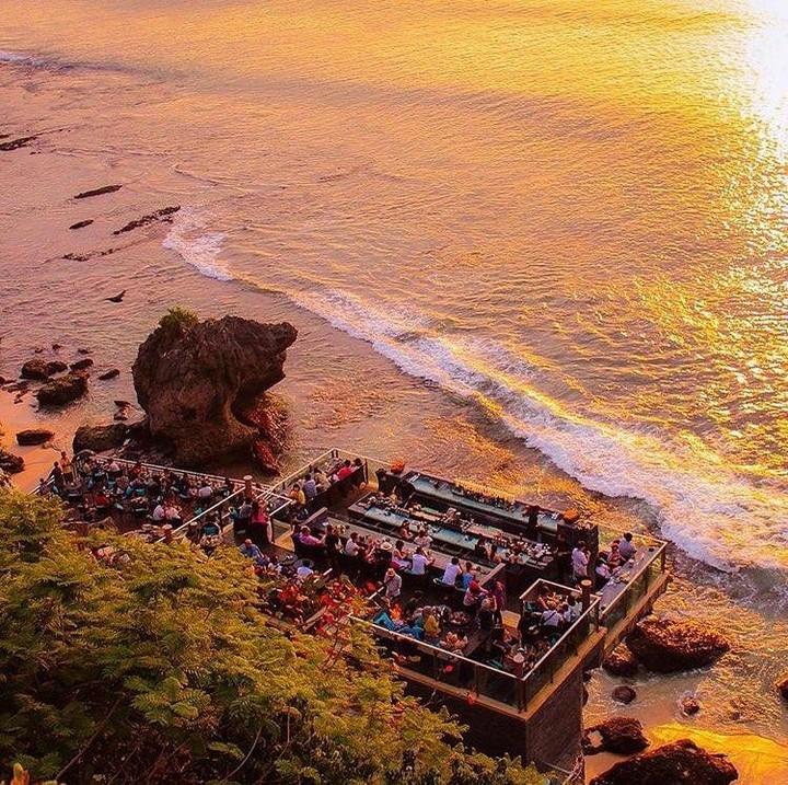 epic cliffside bar
