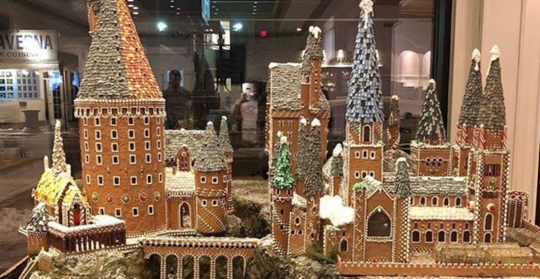 Famous Canadian bakery creates epic gingerbread Hogwarts (VIDEO)