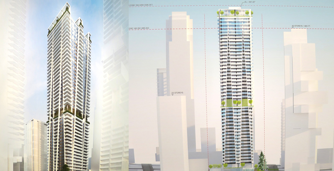 49-storey, tree-inspired condo tower proposed for downtown Vancouver