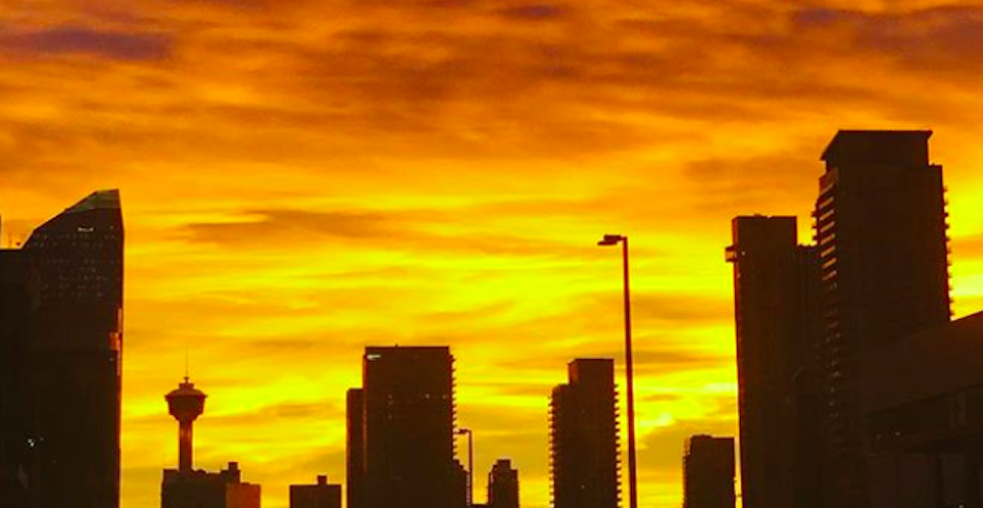 The sunrise over Calgary was absolutely stunning this morning (PHOTOS)
