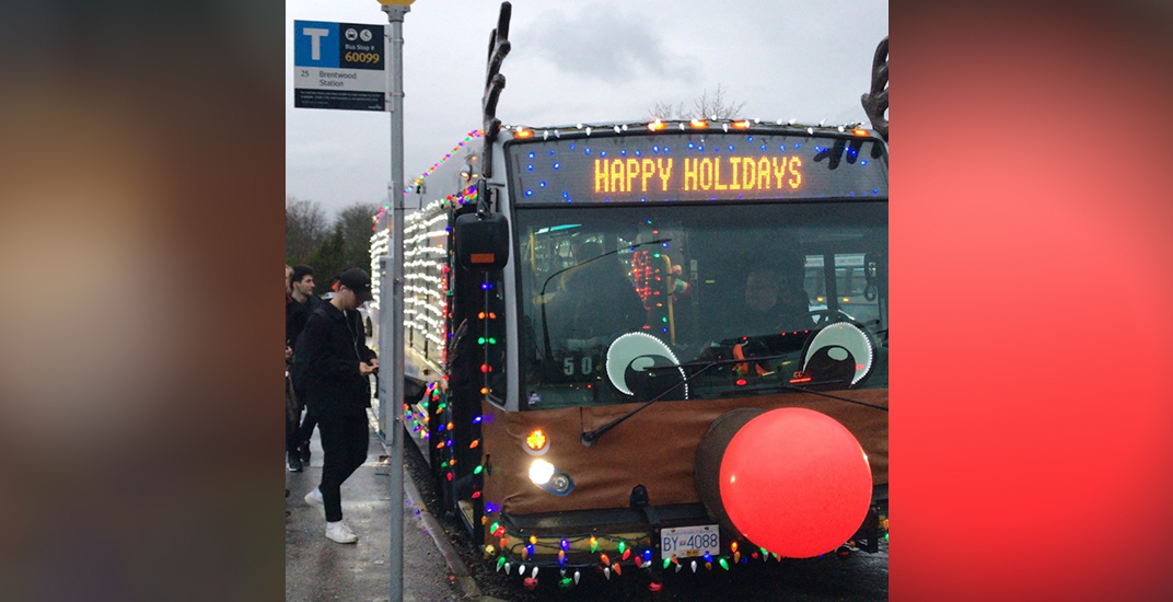 Rudolph the red-nosed bus: TransLink's Christmas bus returns for the season