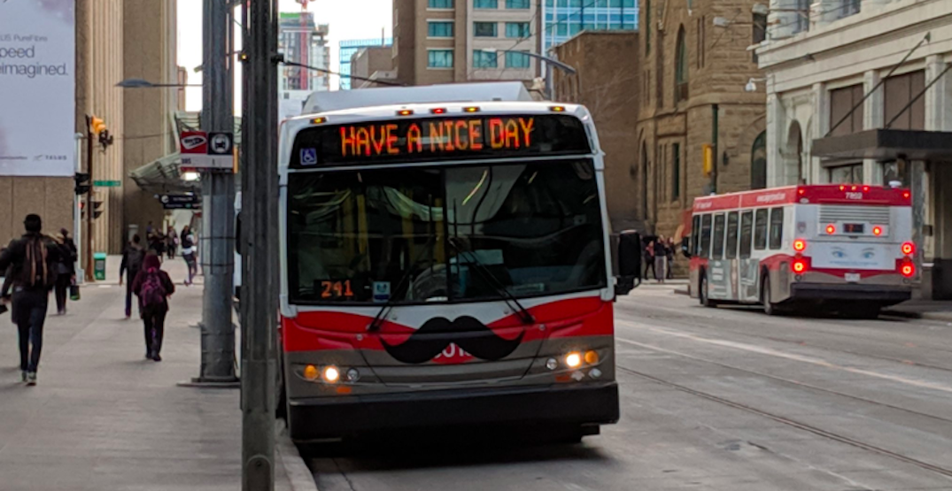 Calgary Transit running Movember 2019 contest on moustachioed vehicles