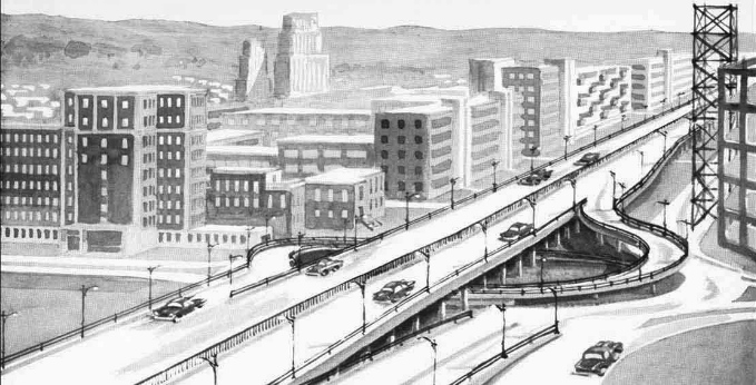 This is what 1950s city officials wanted Montreal to look like in the year 2000