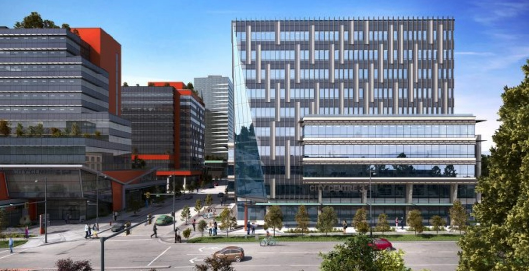 Construction begins on City Centre 3 building at Surrey health and tech district