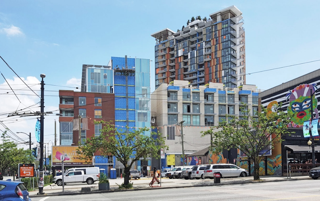 The Independent At Main Mount Pleasant Vancouver skyline