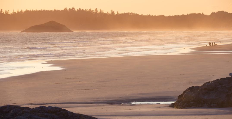 Sunset at long beach british columbia
