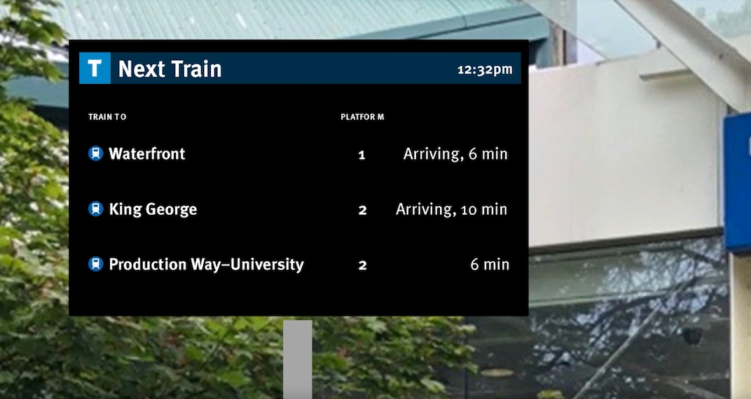 SkyTrain electronic signs