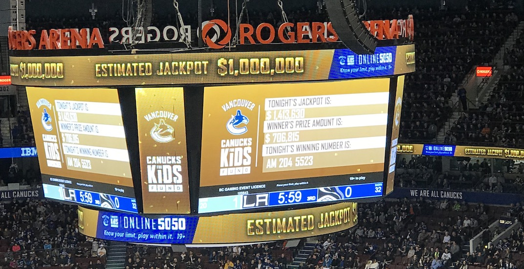 Next Canucks 50/50 jackpot will surpass $1 million