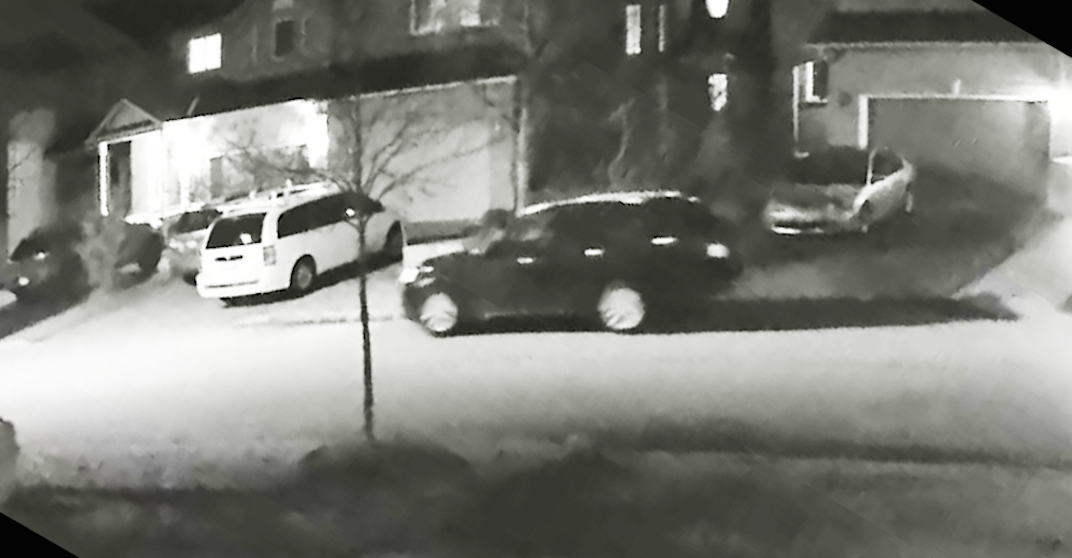 Surveillance video shows vehicle involved in violent Ajax residential shooting