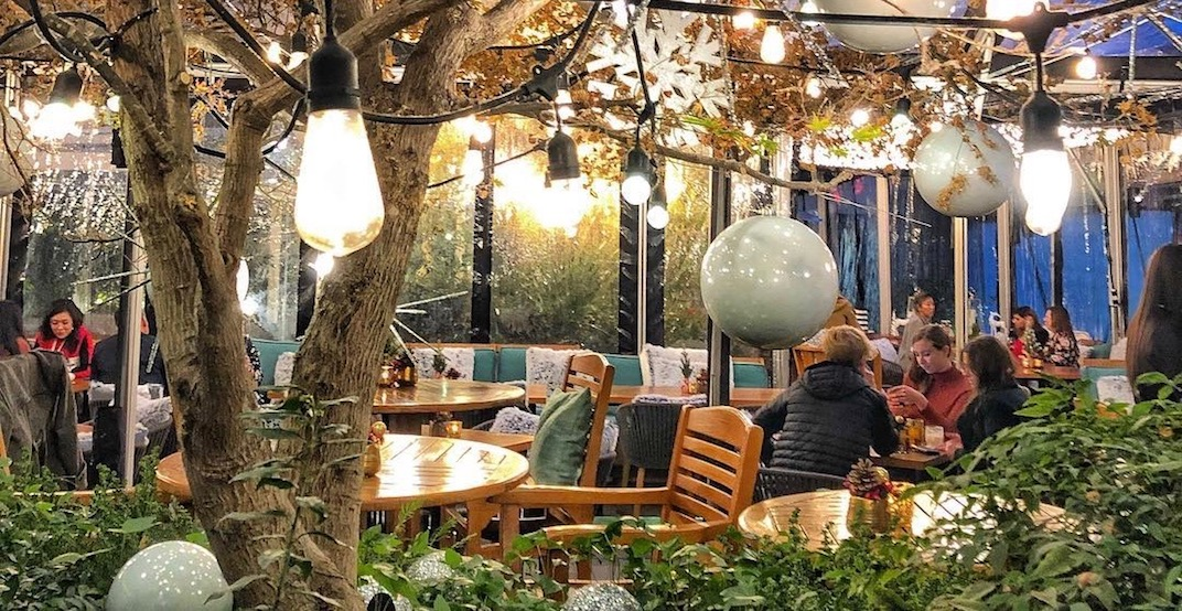 People are obsessed with this magical winter patio in Vancouver (PHOTOS)