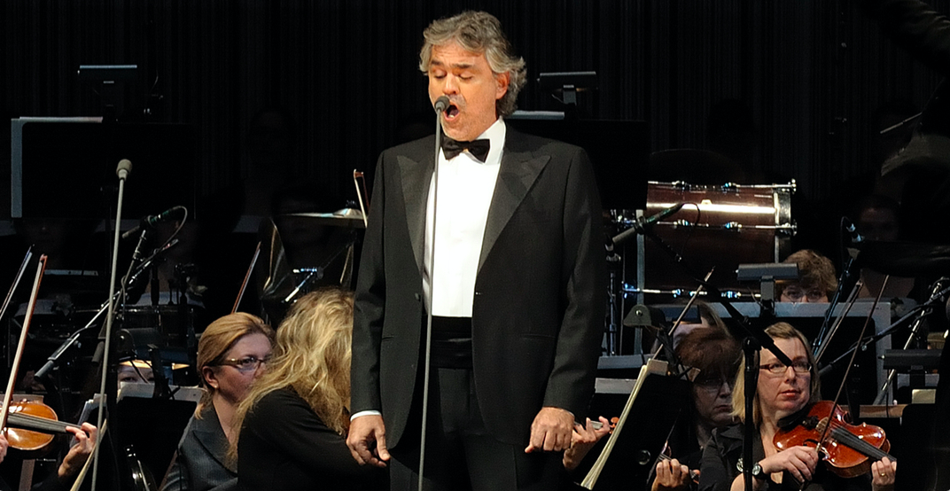 See classical music master Andrea Bocelli perform live in Vancouver in 2019
