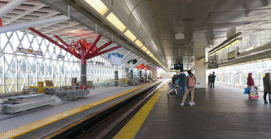 TransLink tackling pigeon problem at newly-constructed SkyTrain platform