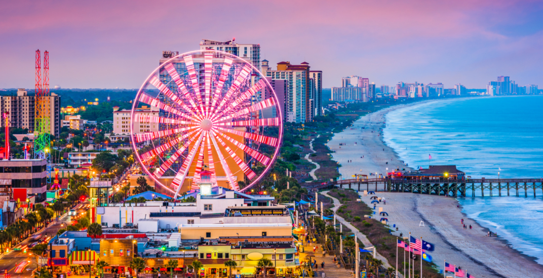 You can fly direct from downtown Toronto to Myrtle Beach this winter