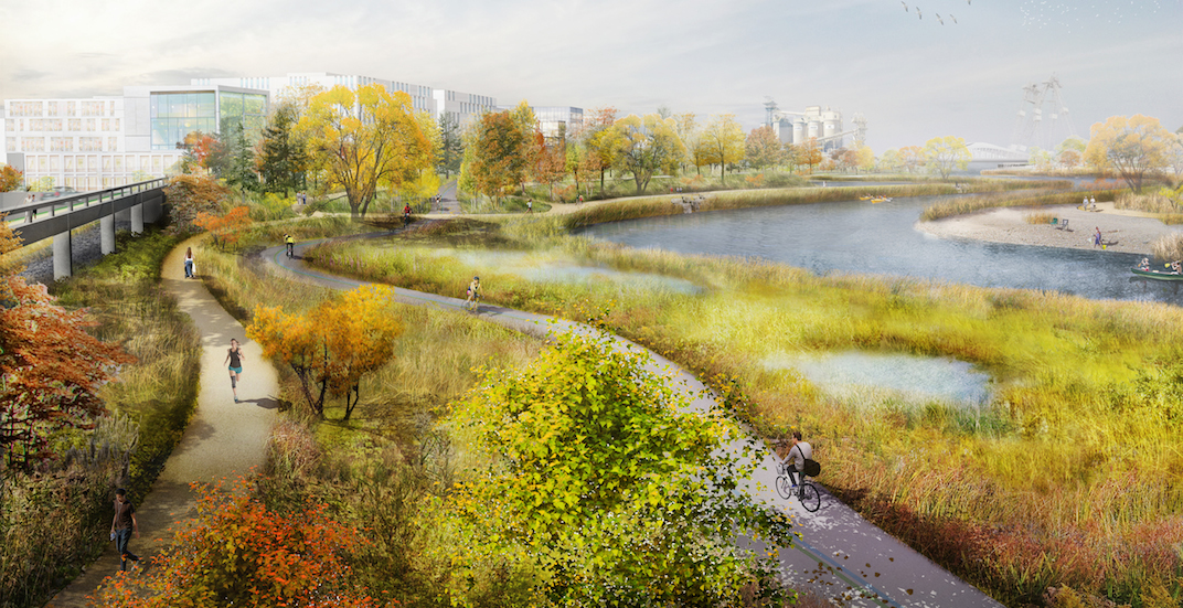 Ground officially breaks on new river valley in Toronto Port Lands (RENDERINGS)