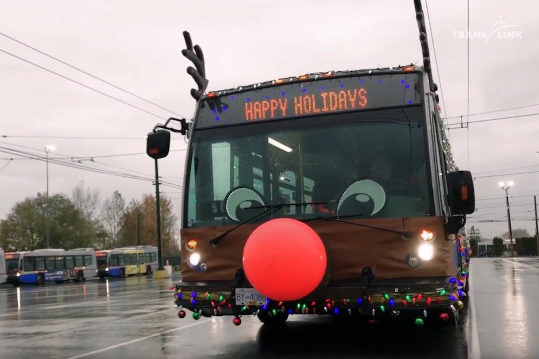 TransLink Reindeer Bus