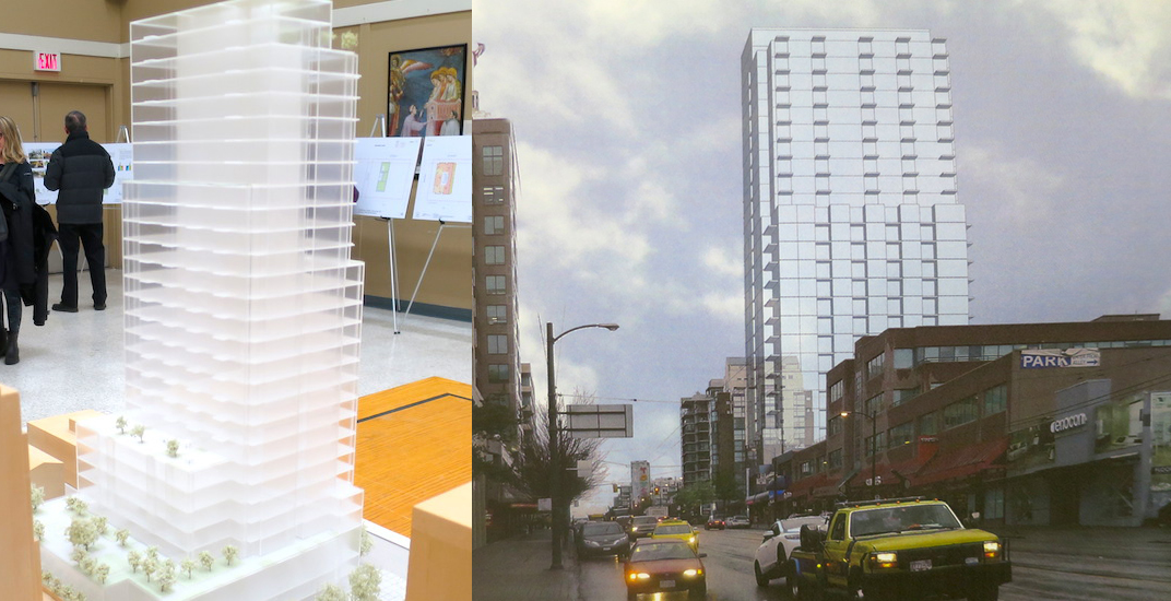 28-storey rental housing tower proposed for West Broadway Denny's site