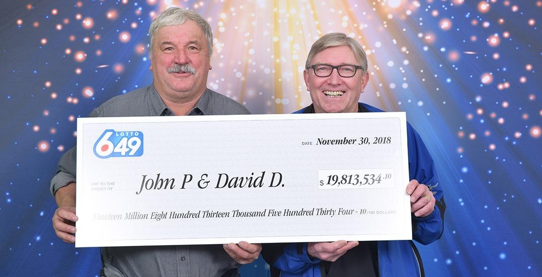 Childhood friends win $19.8M in Lotto 6/49 jackpot