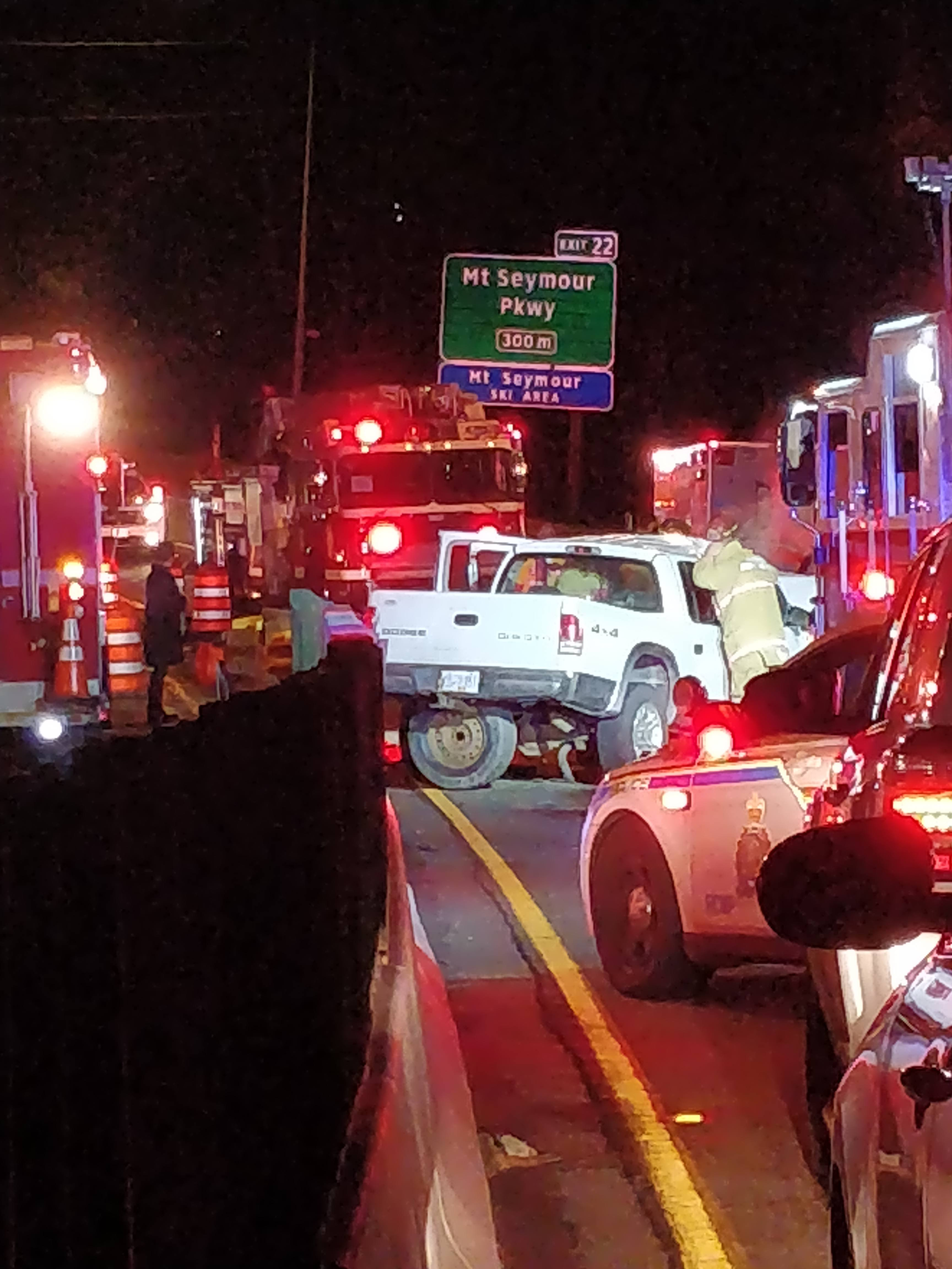Crash Closes Highway 1 In North Vancouver For 6 Hours News