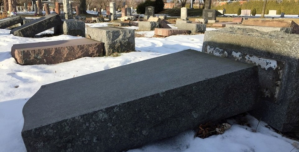 More than 60 headstones knocked over at two South Shore cemeteries