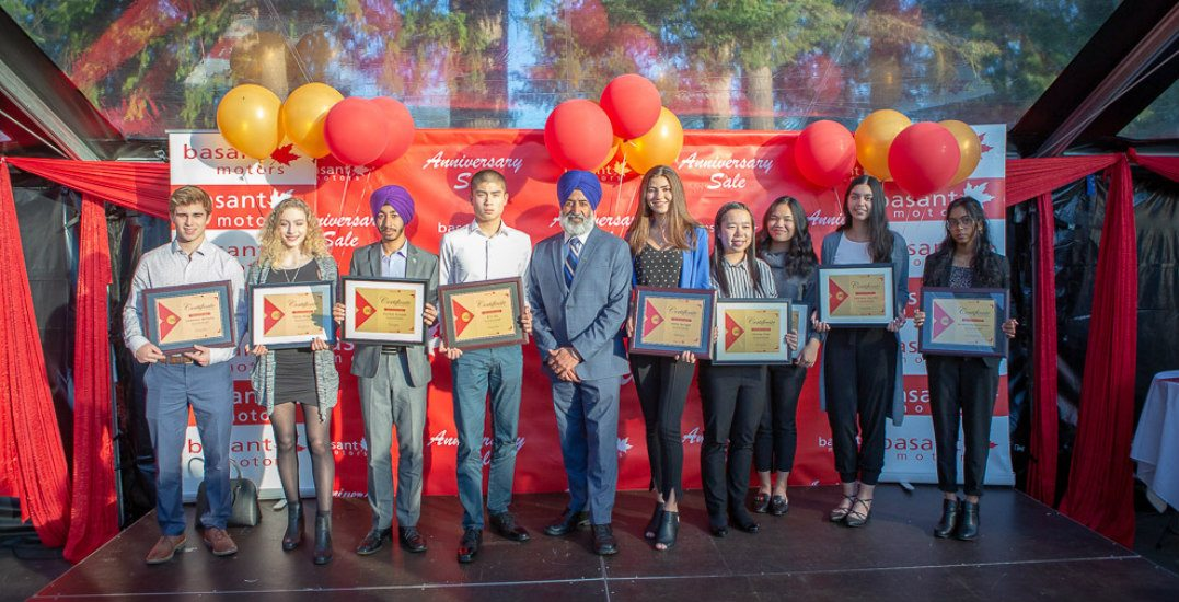 Basant Motors awards $27,000 in scholarships to students in the Lower Mainland