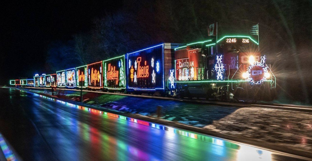 Canada's magical Christmas train will make its final stop near Vancouver