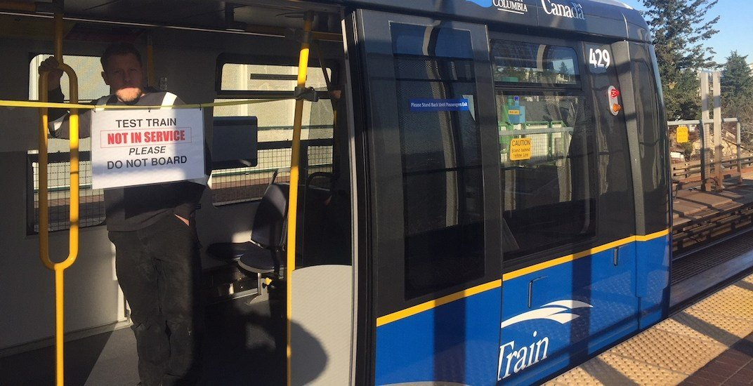 First new SkyTrain Mark III train enters testing routine in Vancouver