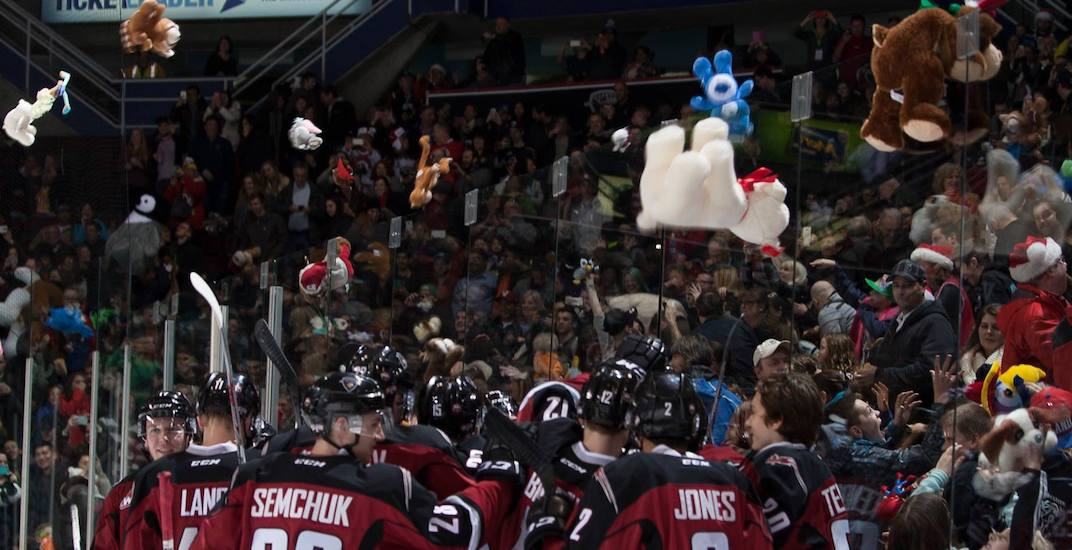 Teddy bears will rain down at the Pacific Coliseum this weekend