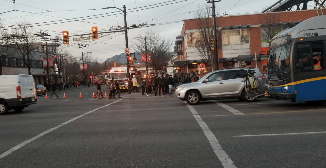 Fire at Commercial-Broadway resulting in bus service delays: TransLink