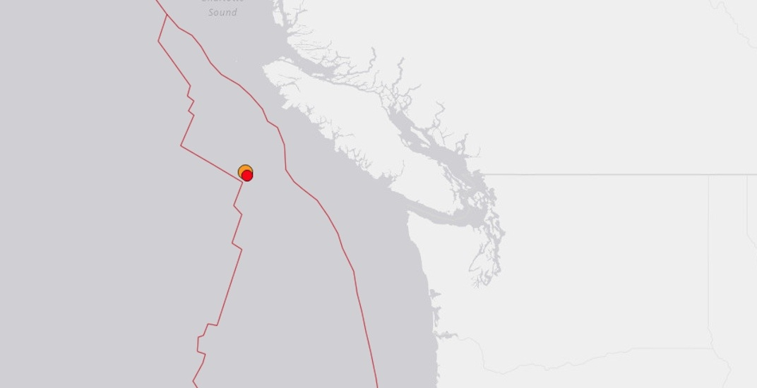 Magnitude 4.8 and 4.2 earthquakes detected off the coast of Vancouver Island