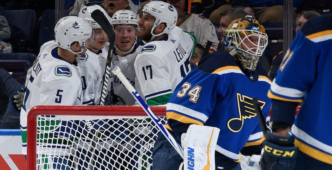 Boeser scores hat trick in Canucks' blowout of the Blues