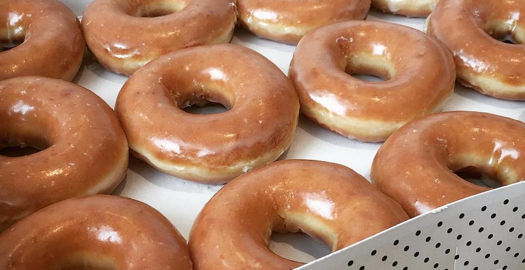 You can get a dozen Krispy Kreme doughnuts for $1 on December 12