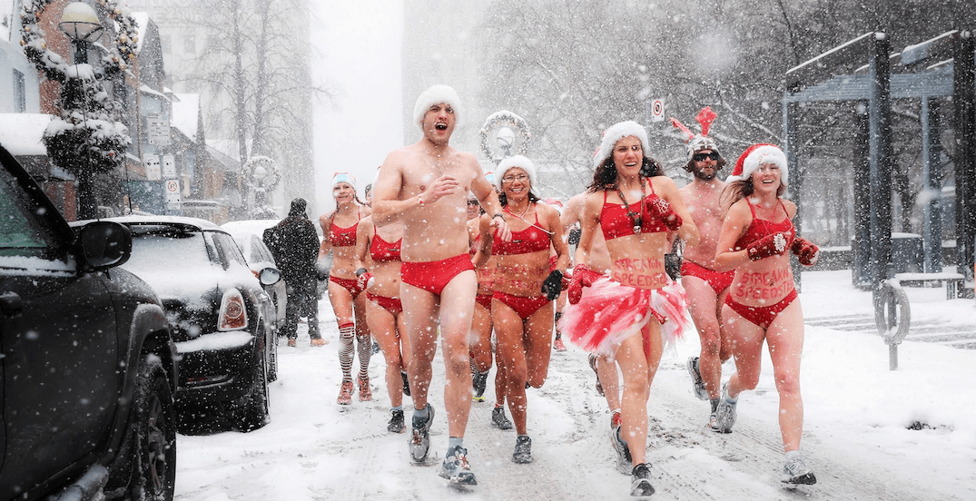 There's a Santa Speedo Run happening in Toronto next weekend