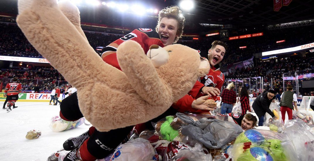 Calgary Hitmen collecting Teddy Bears in brand new Teddy Bear Toss