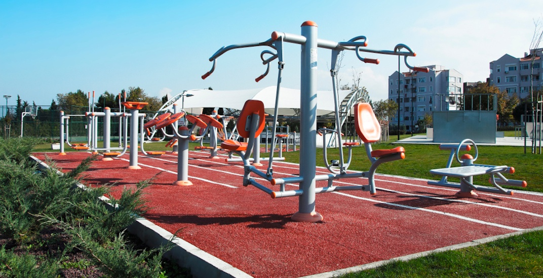An outdoor fitness gym could be added to an East Vancouver park