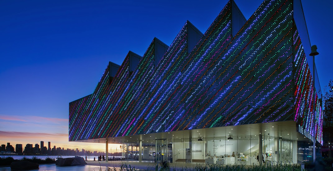New light show synchronized to music wraps North Vancouver's art gallery