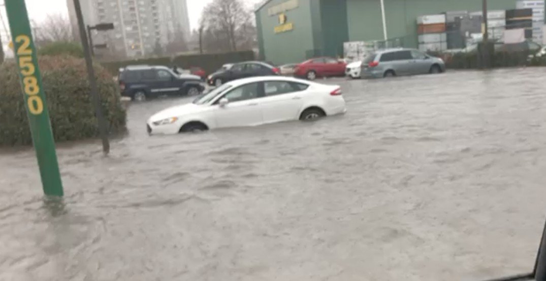 Heavy rainfall results in flooding, cars floating in Metro Vancouver (VIDEO)