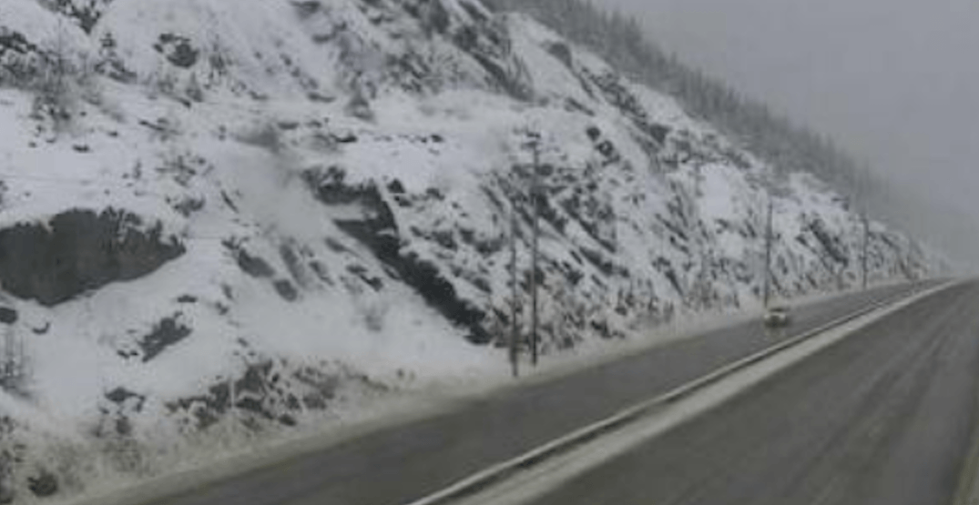 Special weather alert warns of up to 25 cm of snow on Coquihalla Highway today