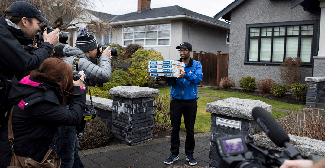 Huawai exec Meng Wanzhou orders pizza for media camped outside Vancouver home