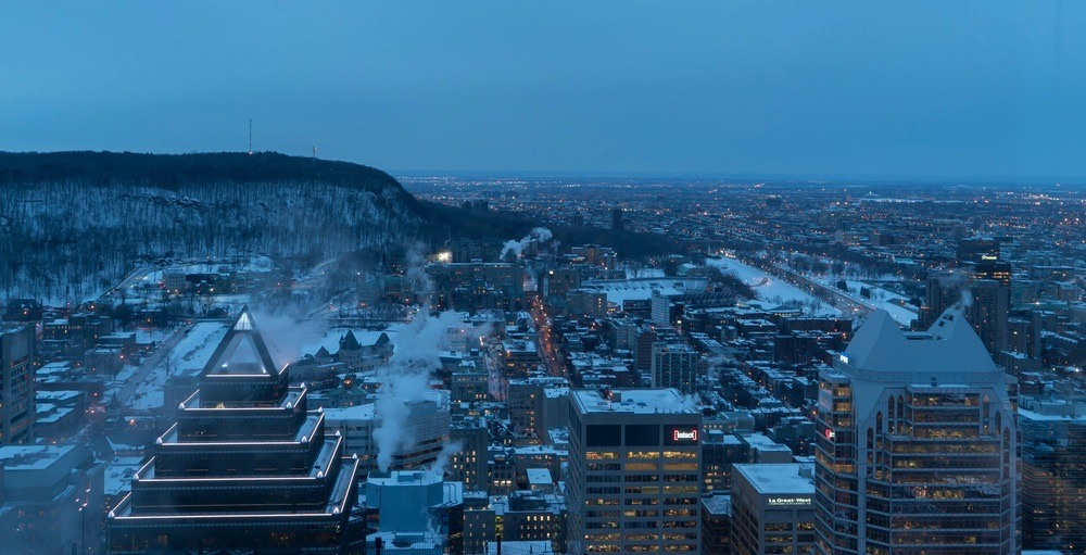 Pedestrian dies after being struck by dump truck in downtown Montreal
