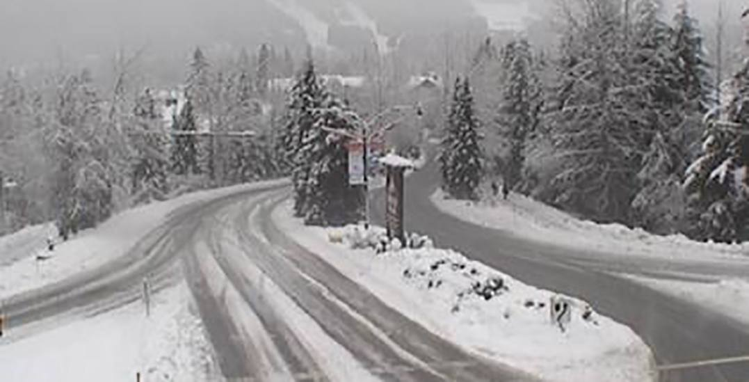 Wind and snowfall warning in effect for Whistler and Sea to Sky region