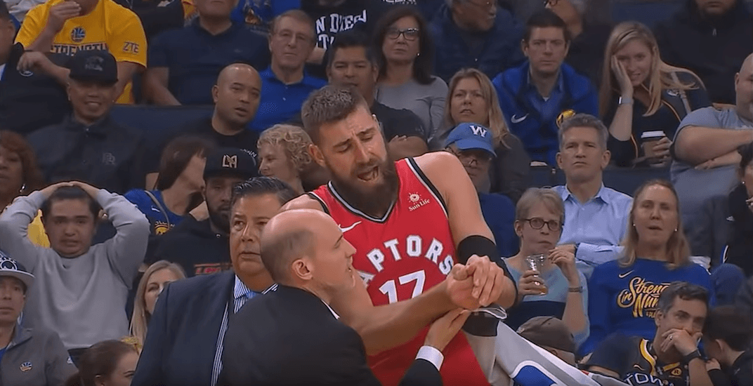 Raptors' Valanciunas out long-term with a dislocated thumb