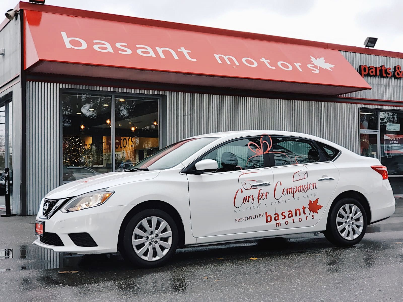 Basant Motors is starting the New Year by giving a car to a family in need