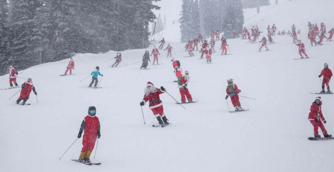 Dress like Santa to ski or ride for FREE at Whistler Blackcomb on December 16