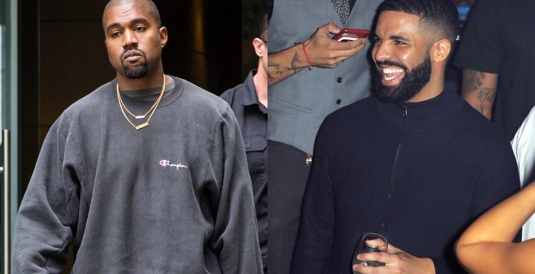Kanye West says Drake is 'threatening' him in bizarre 80-tweet rant