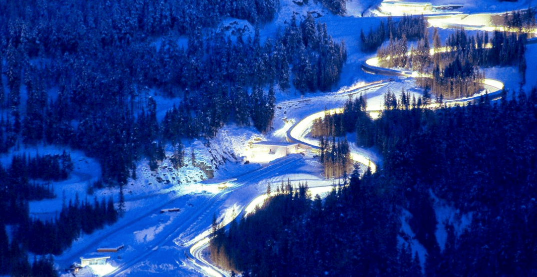 You can zip down this giant ice sliding track in Whistler this winter