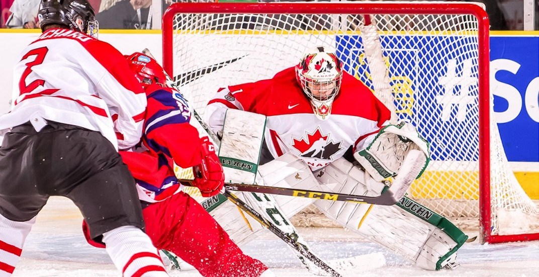 Dipietro S Canadian World Junior Goalie Gear Honours Humboldt
