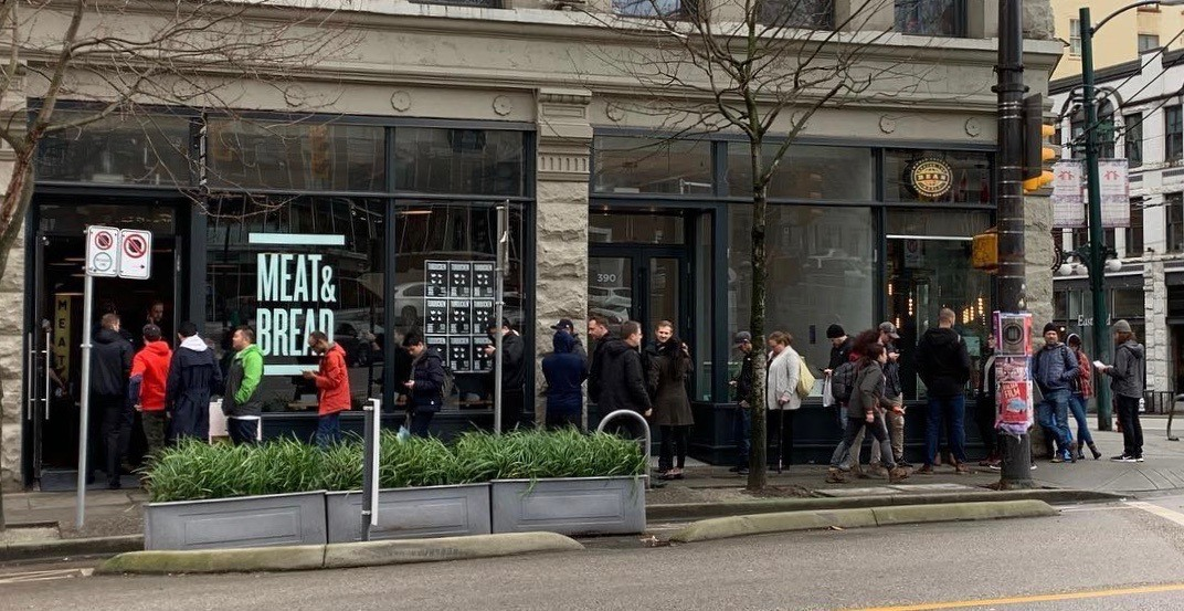 Lines for Meat & Bread's Turducken sandwich are huge right now (PHOTO)