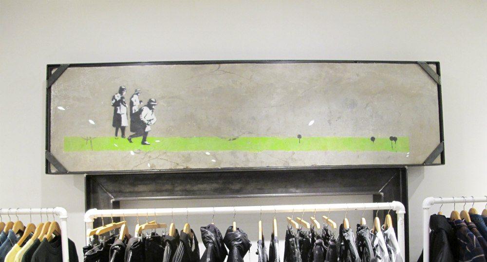 Whistler store unveils original Banksy art piece