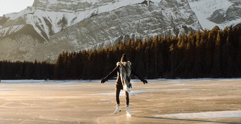 This Rocky Mountain lake makes for a gorgeous ice skate (PHOTOS)