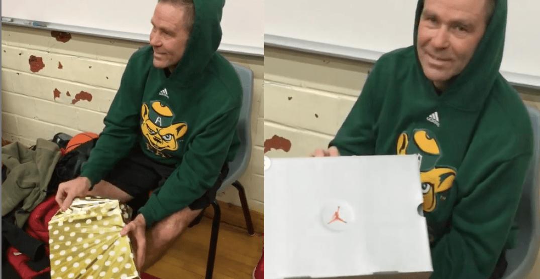 These Toronto high school students surprise their favourite teacher with Jordans (VIDEOS)
